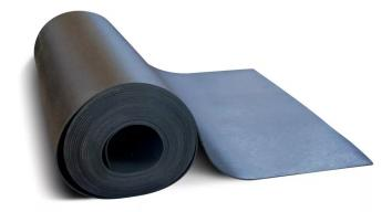 10m2 Piso em Manta preto PVC emborrachado 3mm Piso Academia